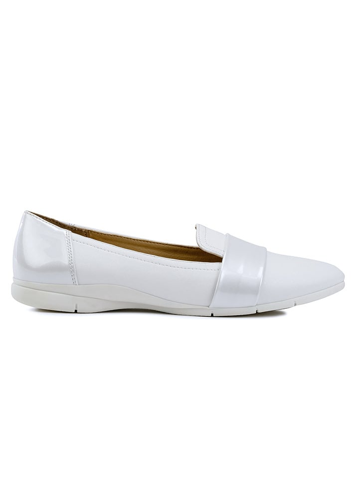 """Geox Slippersy """"Zane"""" w kolorze białym"""