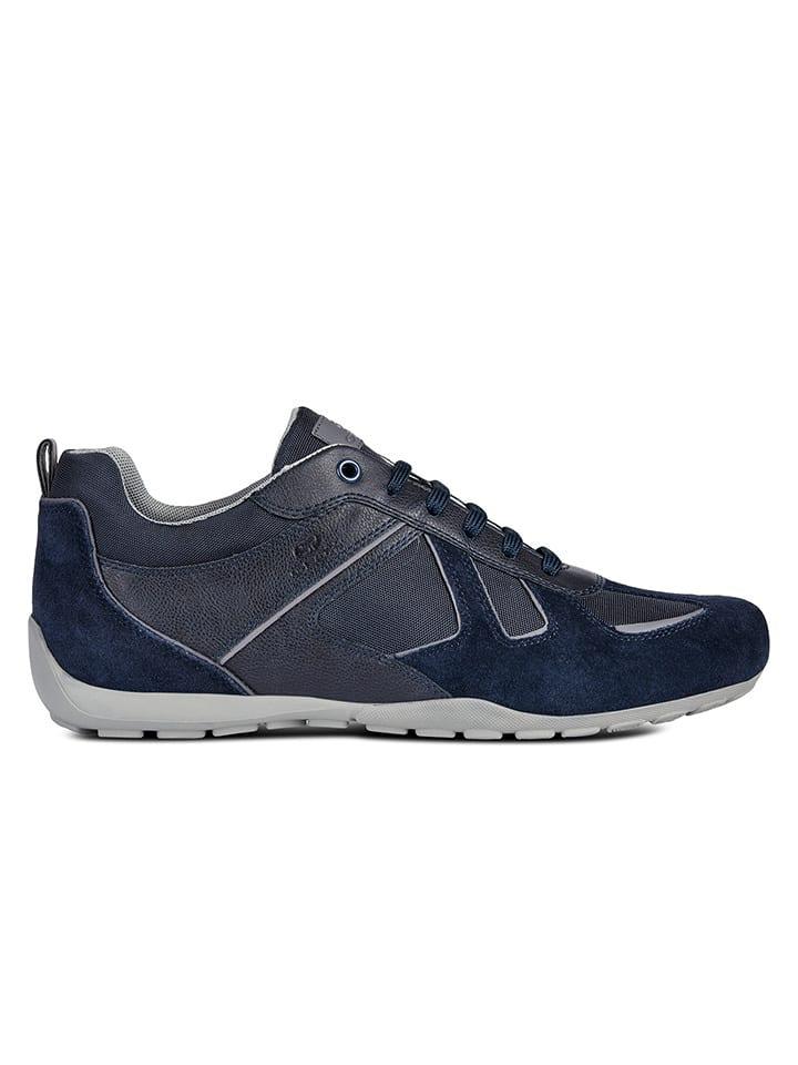 Geox Skórzane sneakersy w kolorze granatowym