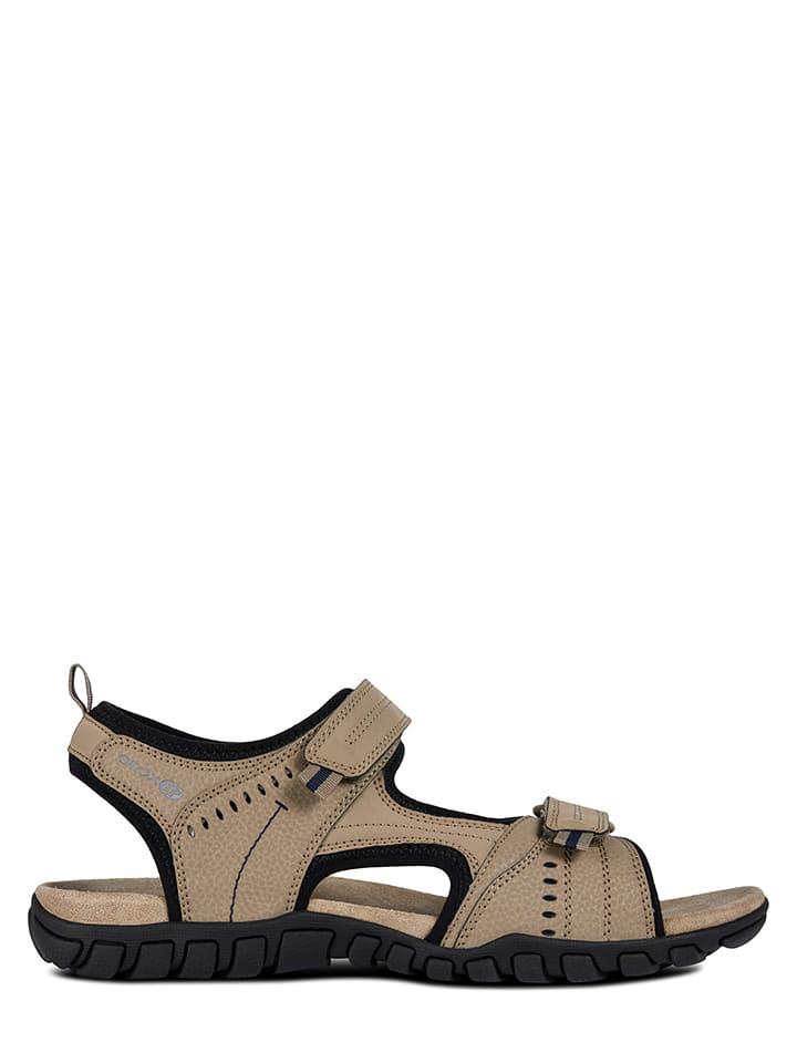 Geox Sandały w kolorze beżowym