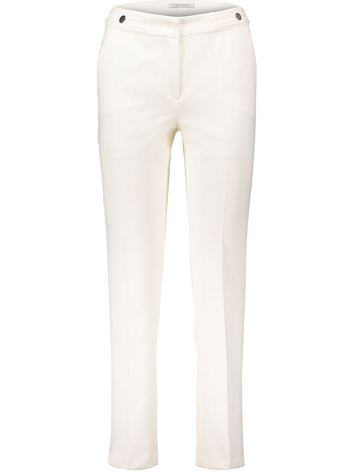 Betty Barclay Spodnie w kolorze kremowym