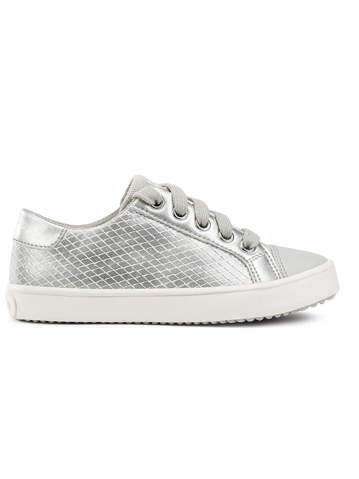 """Geox Sneakersy """"Gisli"""" w kolorze srebrnym"""