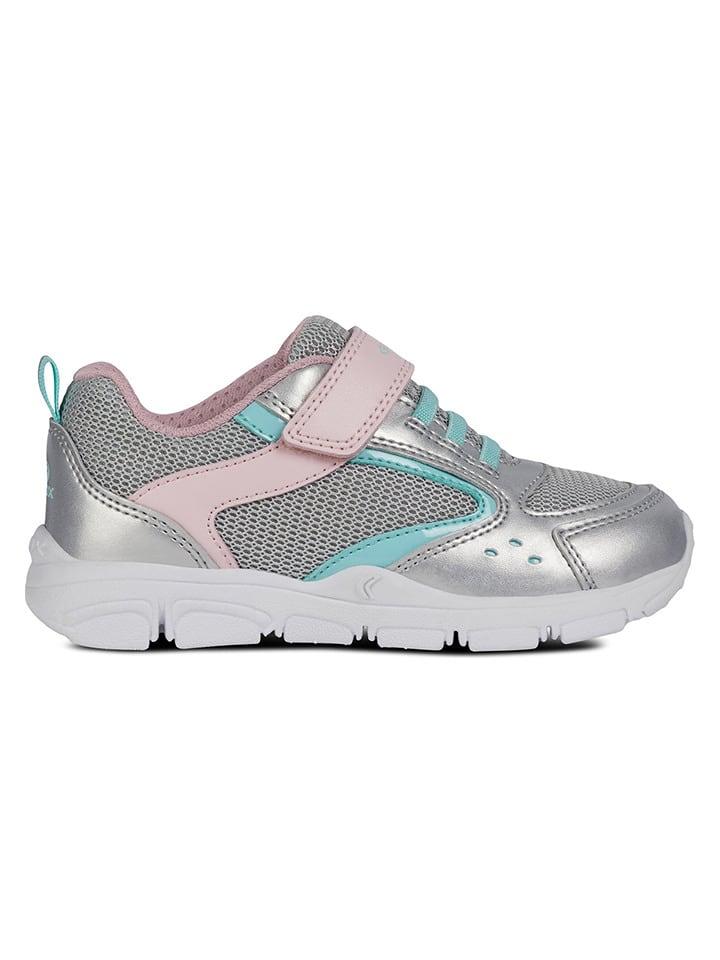 """Geox Sneakersy """"Torque"""" w kolorze srebrno-szarym"""