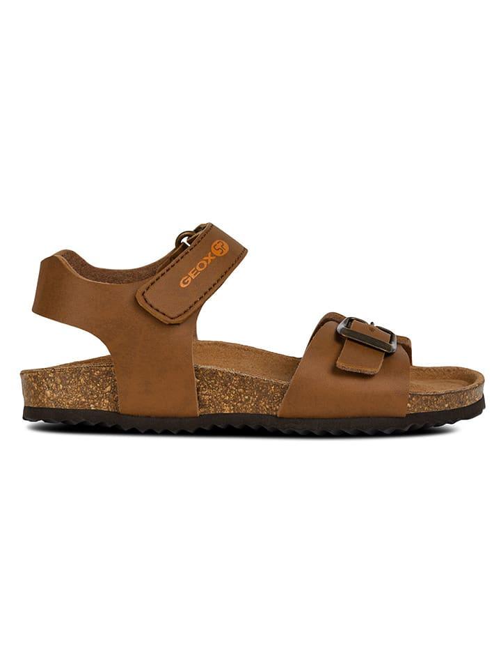 """Geox Sandały """"Ghita"""" w kolorze jasnobrązowym"""