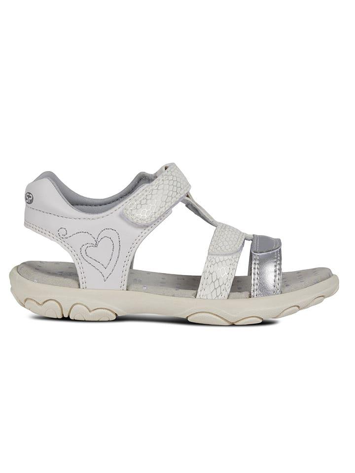 """Geox Sandały """"Cuore"""" w kolorze srebrnym"""