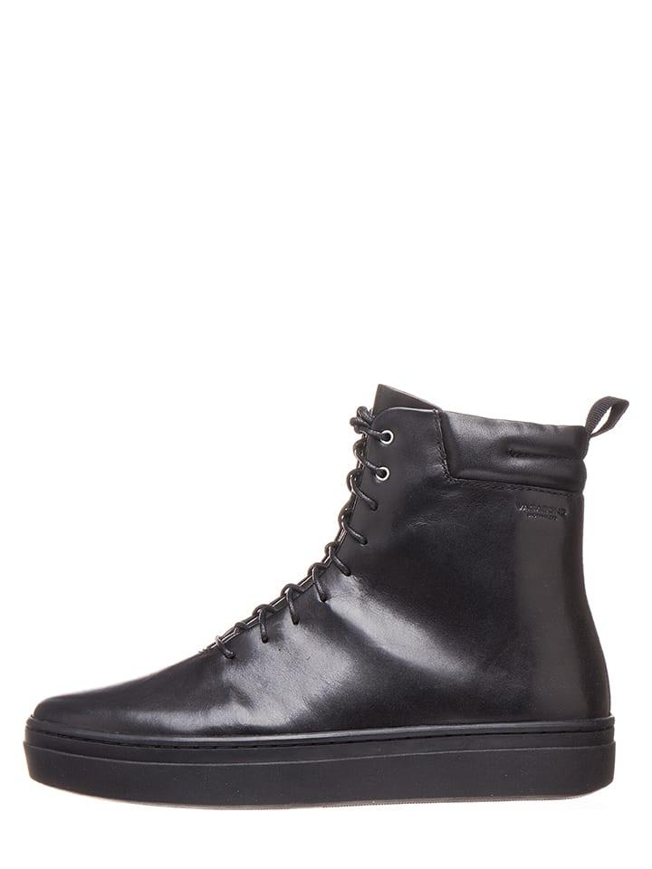 Vagabond Skórzane sneakersy w kolorze czarnym