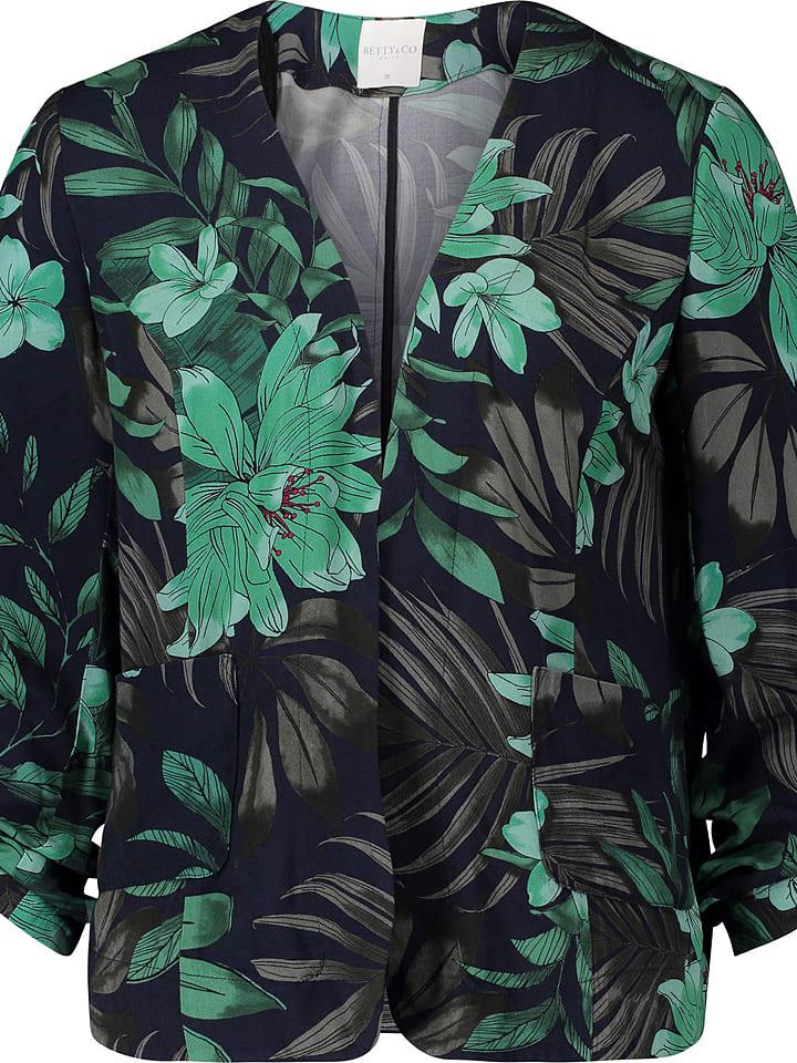 BETTY & CO Blezer w kolorze niebiesko-zielonym