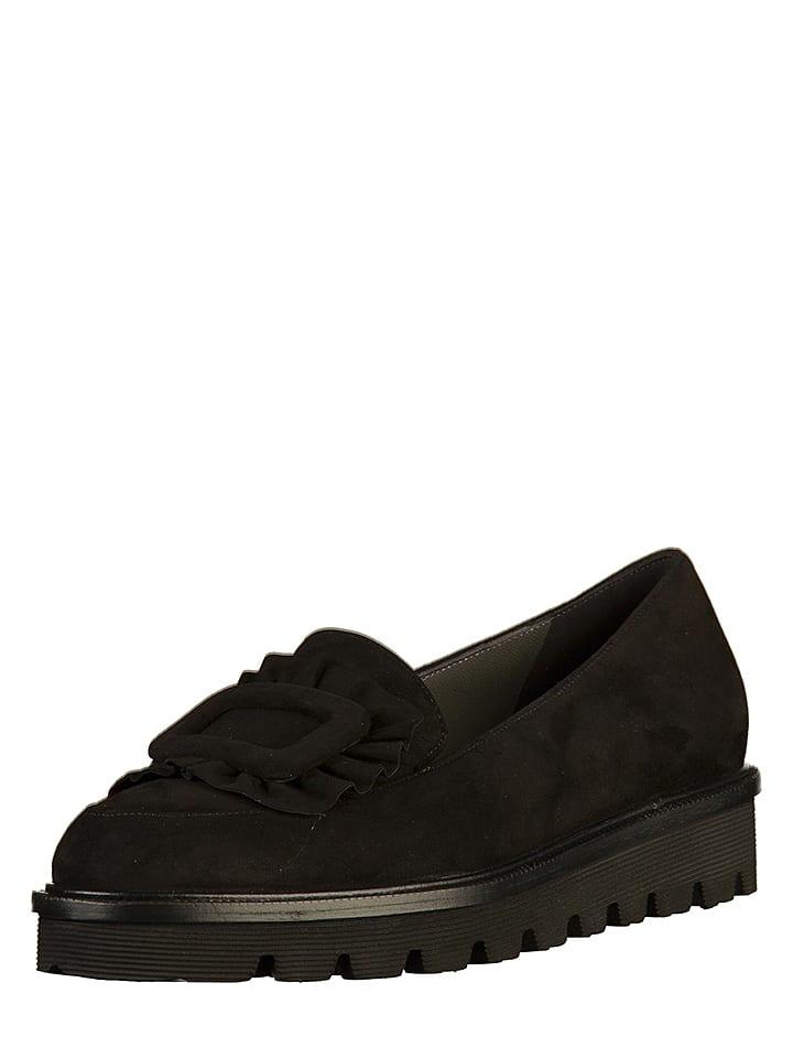 PETER KAISER Skórzane slippersy w kolorze czarnym