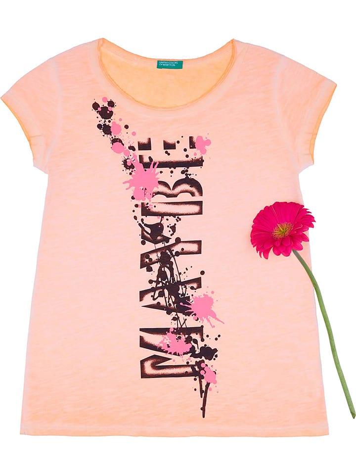 Benetton  Shirt in Orange | 55% Rabatt | Größe 158/164 | Kinder oberteile | 08032590310964