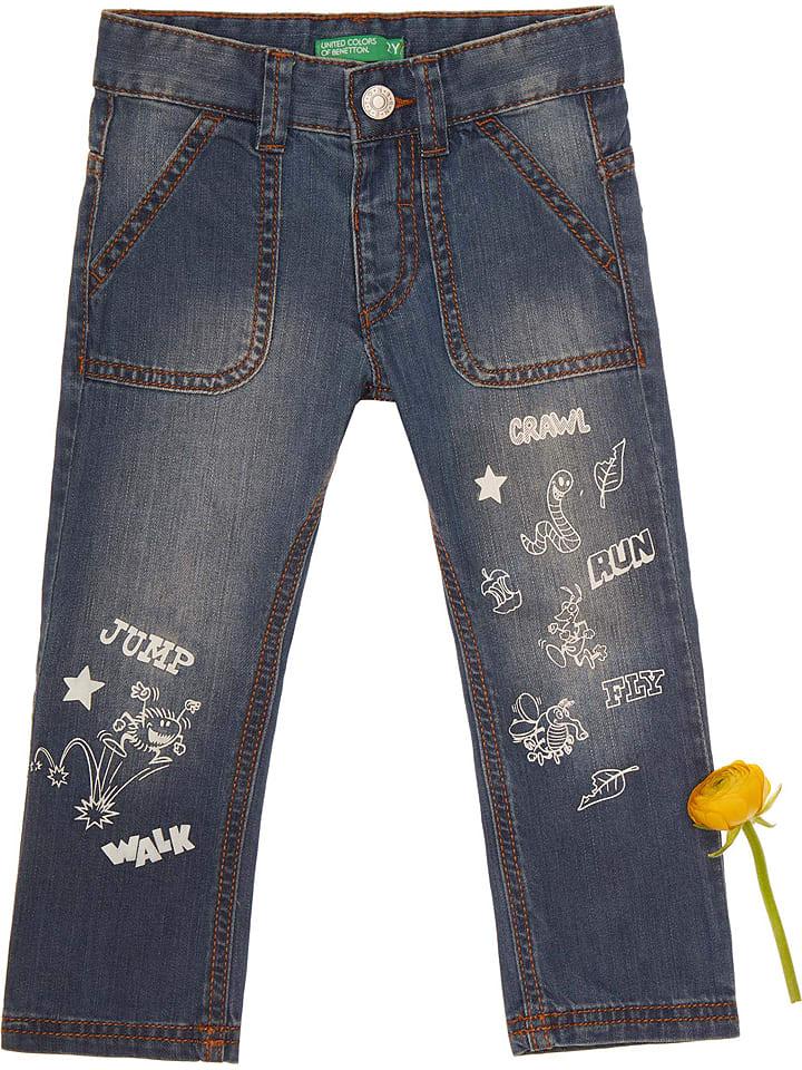 Benetton  Jeans in Dunkelblau | 58% Rabatt | Größe 86/92 | Kinderhosen | 08033074084845