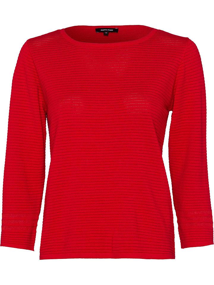 More & More Sweter w kolorze czerwonym