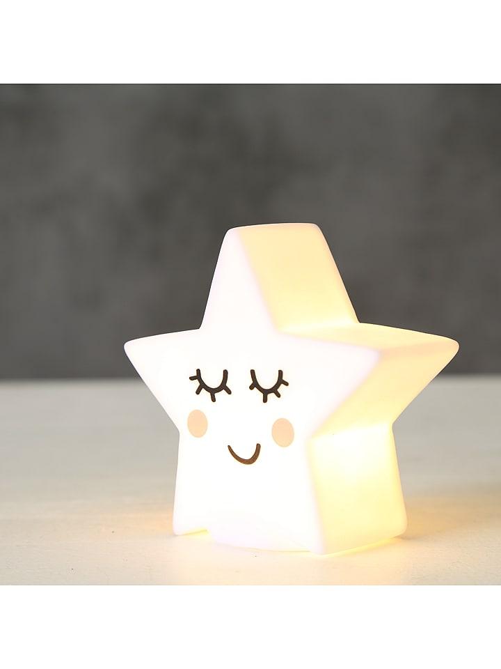 Boltze Dekoracyjna lampka LED w kolorze białym - wys. 9 cm