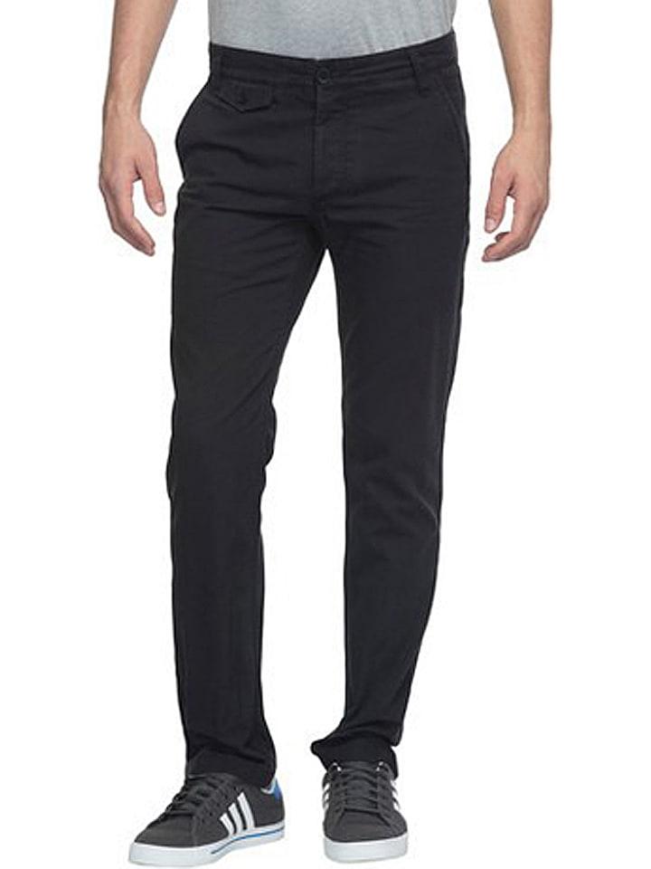 Spodnie chino - Slim fit - w kolorze czarnym