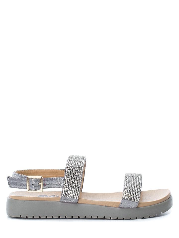 Refresh Sandały w kolorze szarym