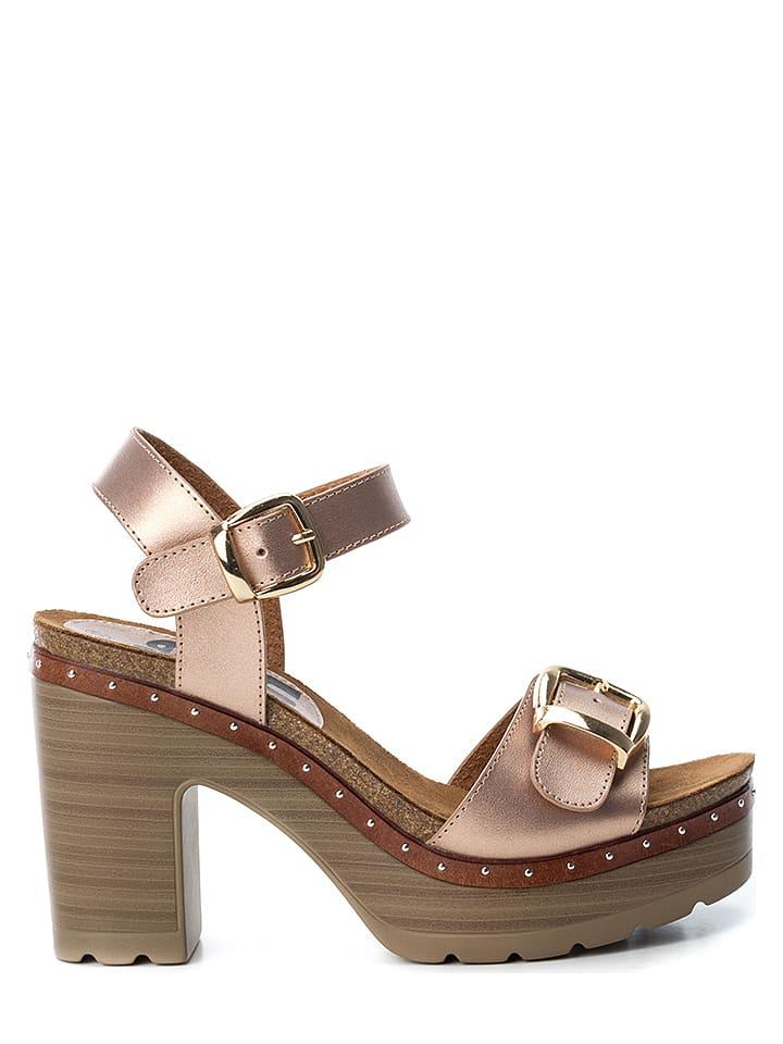 Refresh Sandały w kolorze jasnoróżowym