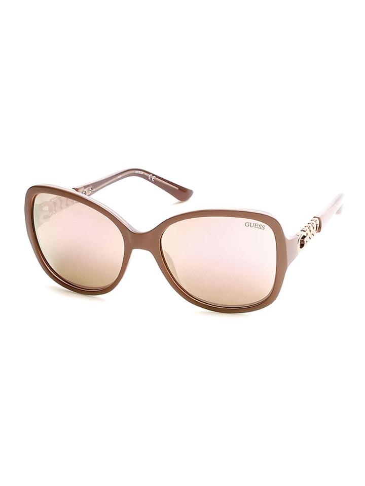 """Guess Okulary przeciwsłoneczne """"GU7452"""" w kolorze jasnoróżowym"""