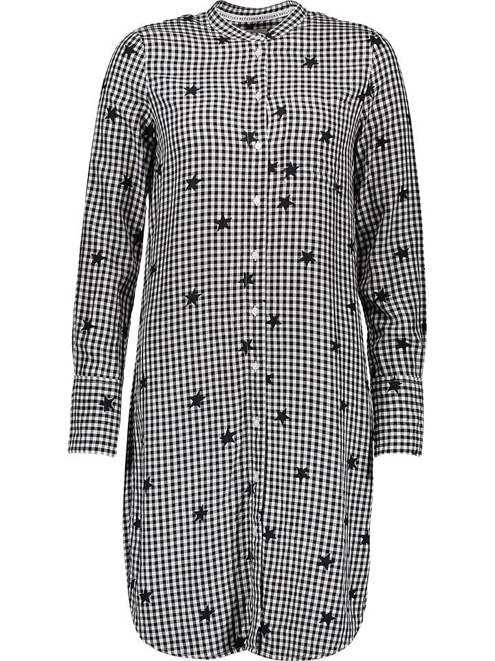 Marc O'Polo Sukienka w kolorze czarno-białym