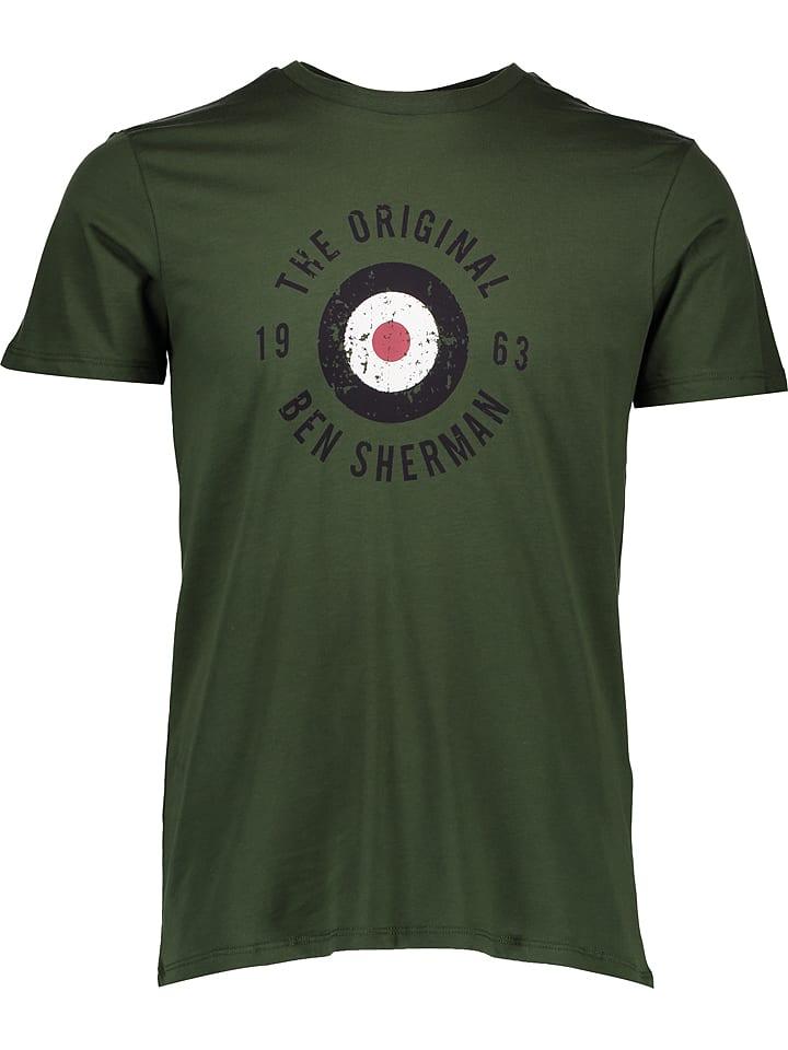 "Ben Sherman T-shirt ""Destorted Target"" - kaki"