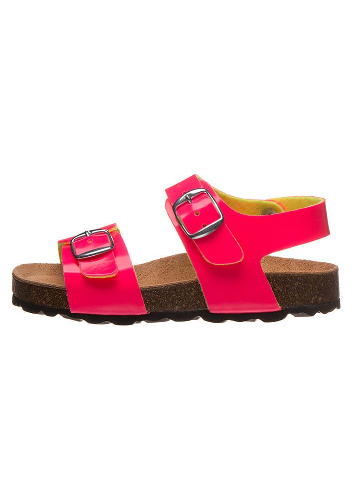 Kmins Sandały w kolorze różowym