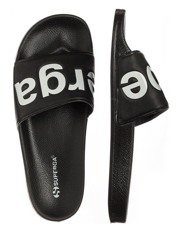 "Superga Klapki ""Slides"" w kolorze czarnym"