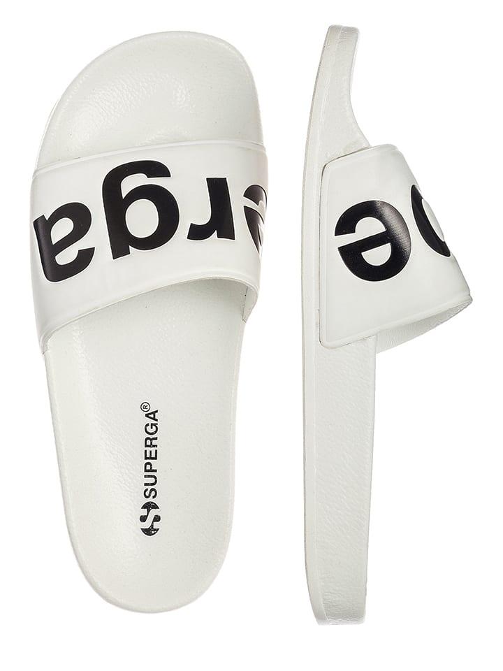 """Superga Klapki """"Slides"""" w kolorze białym"""