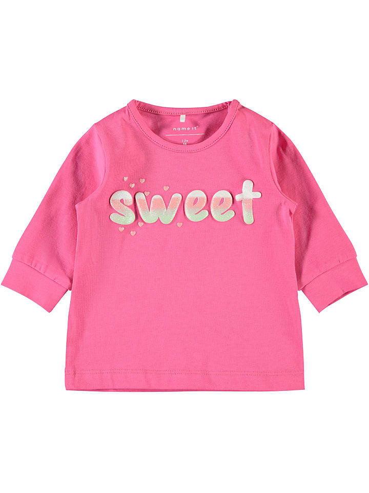Name it Longsleeve ´´Dalia´´ in Rosa - 55%   Größe 86   Baby shirts