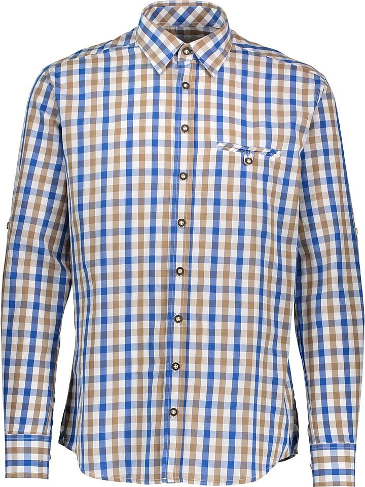 """LEKRA Trachtenhemd """"Wenzel"""" in Blau/ Braun/ Weiß"""