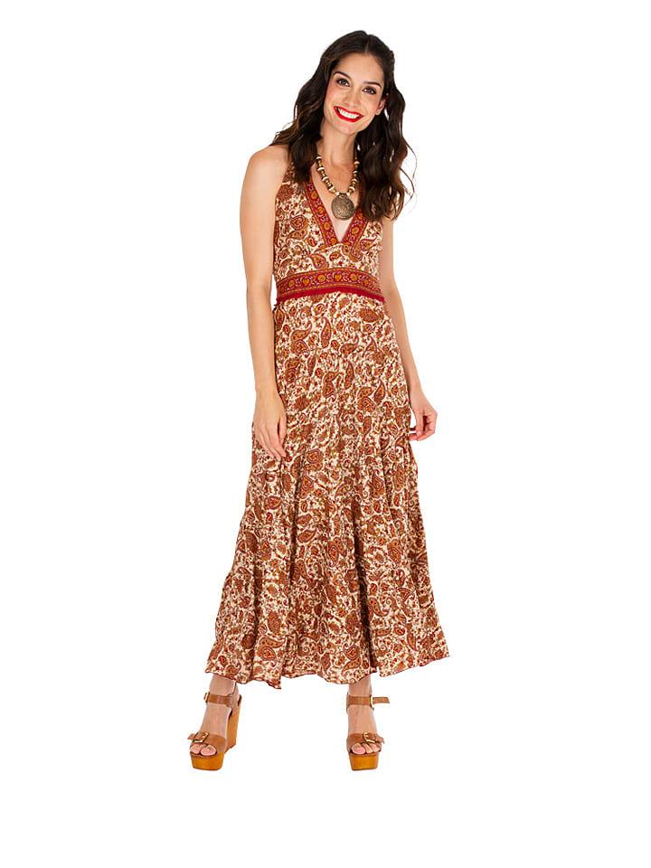 Ipanima  Maxi-Kleid in Beige   65% Rabatt   Größe 34-40   Damen kleider   03663511828852