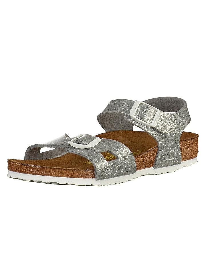 """Birkenstock Sandały """"Rio"""" w kolorze srebrnym"""