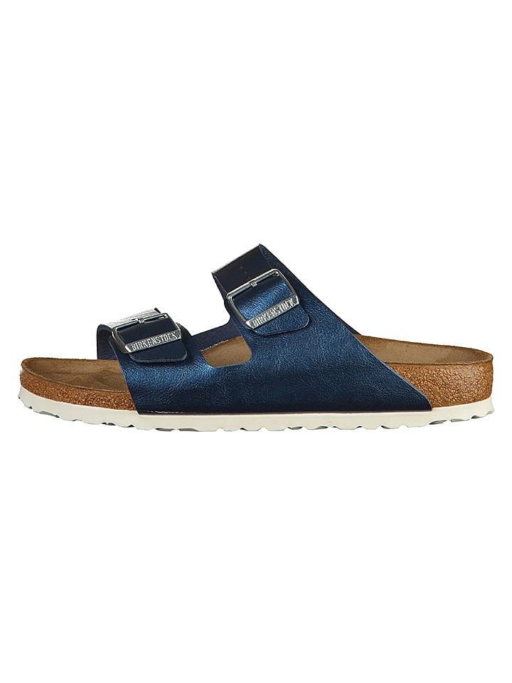 """Birkenstock Pantoletten """"Arizona"""" in Blau - Weite S"""