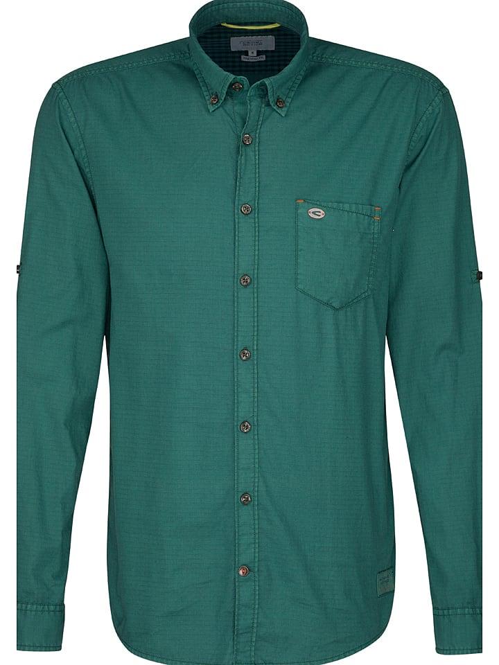 """Camel Active Koszula """"Dan"""" - Regular fit - w kolorze zielonym"""