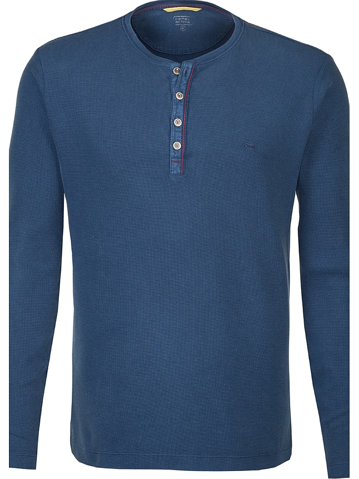 "Camel Active Koszulka ""Henley"" w kolorze niebieskim"