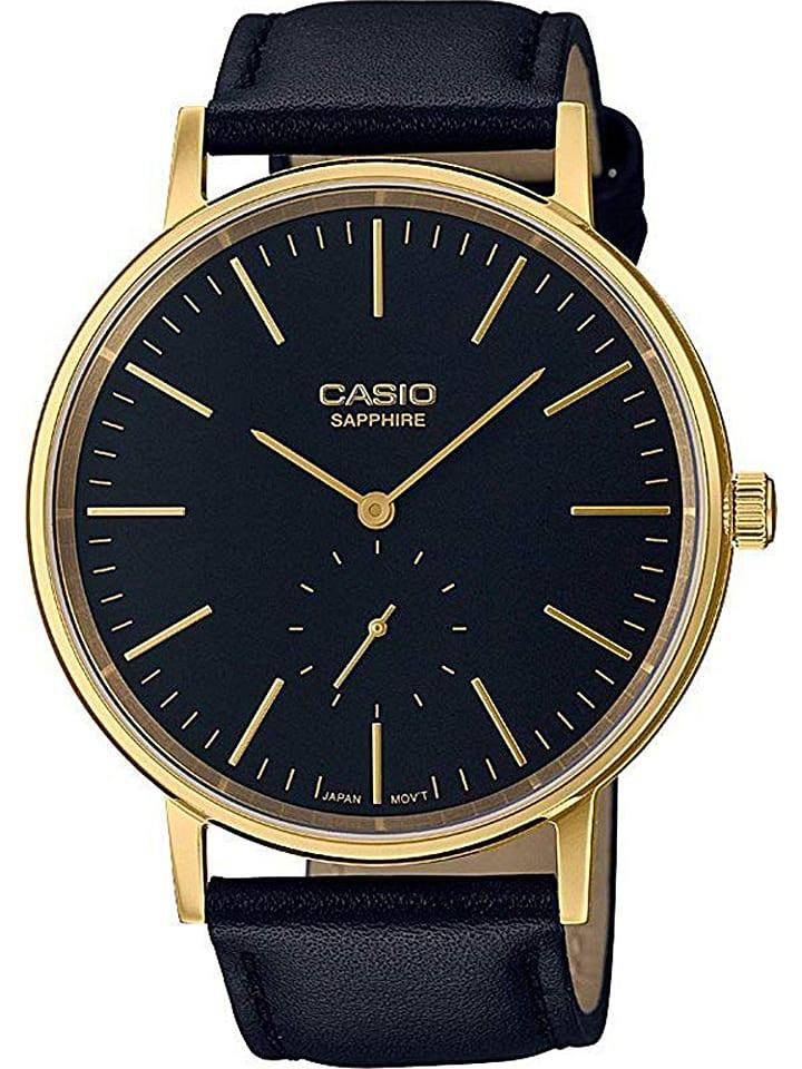 """Casio Zegarek kwarcowy """"Casio Retro"""" w kolorze czarno-złotym"""