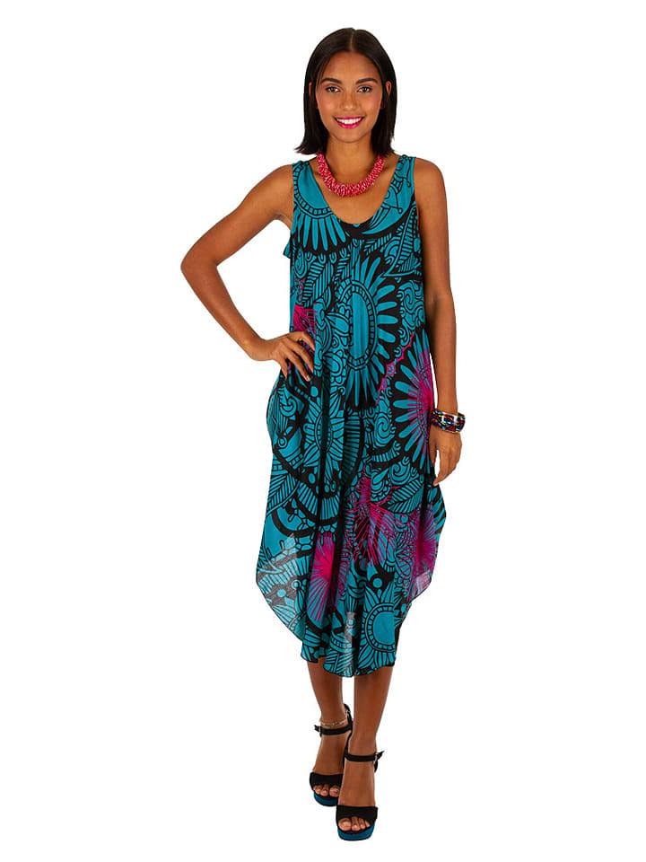 Aller Simplement  Kleid in Petrol   60% Rabatt   Größe 34-42   Damen kleider   03663511808113