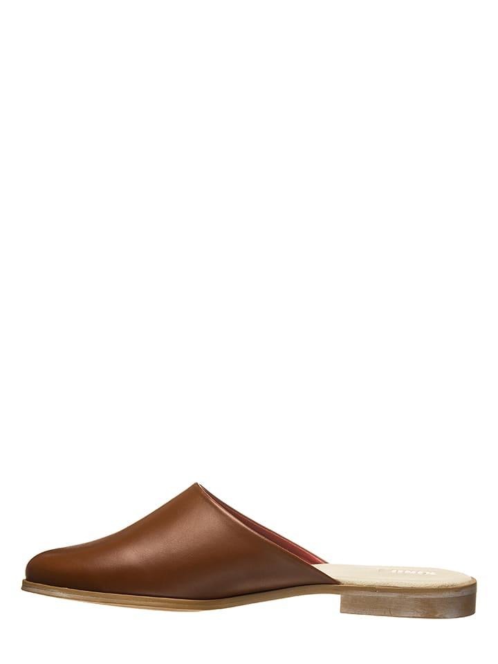 Liebeskind Skórzane slippersy w kolorze brązowym