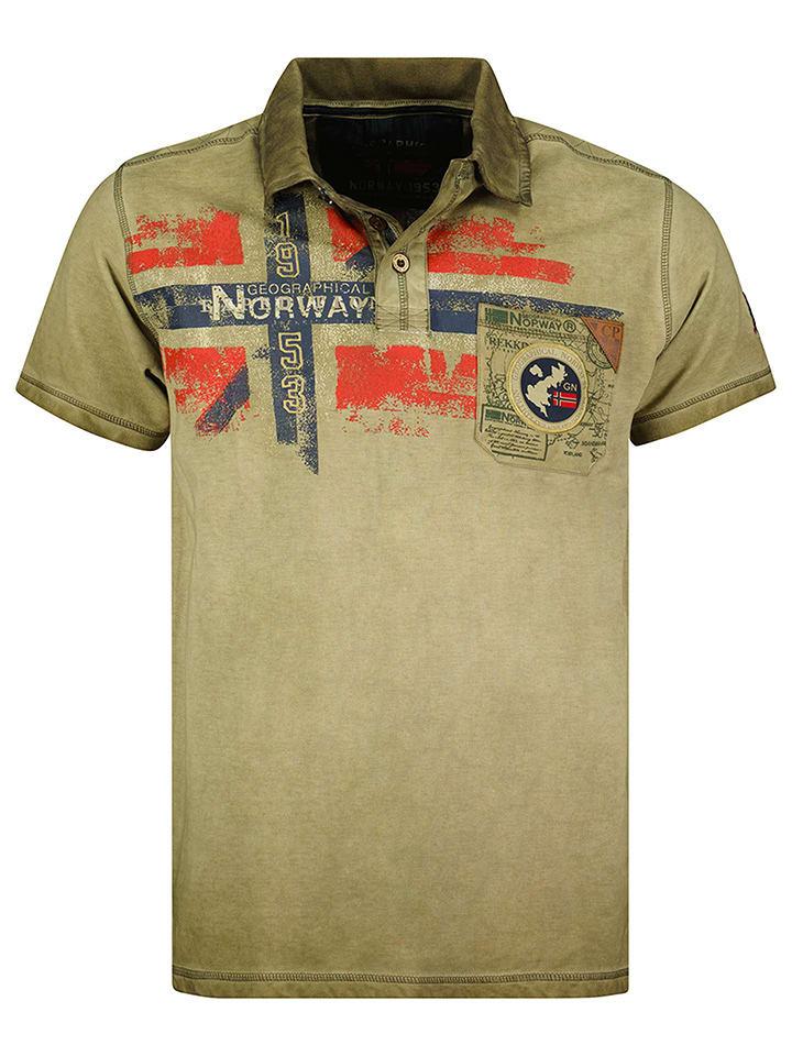 """Geographical Norway Koszulka polo """"Kamo"""" w kolorze khaki"""
