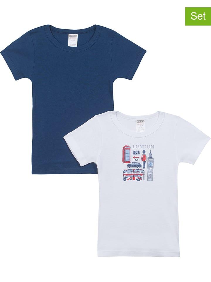 Absorba 2er-Set: Shirts ´´Ope Rentree Des Classes G´´ in Blau - 39% | Größe 104 | Baby shirts