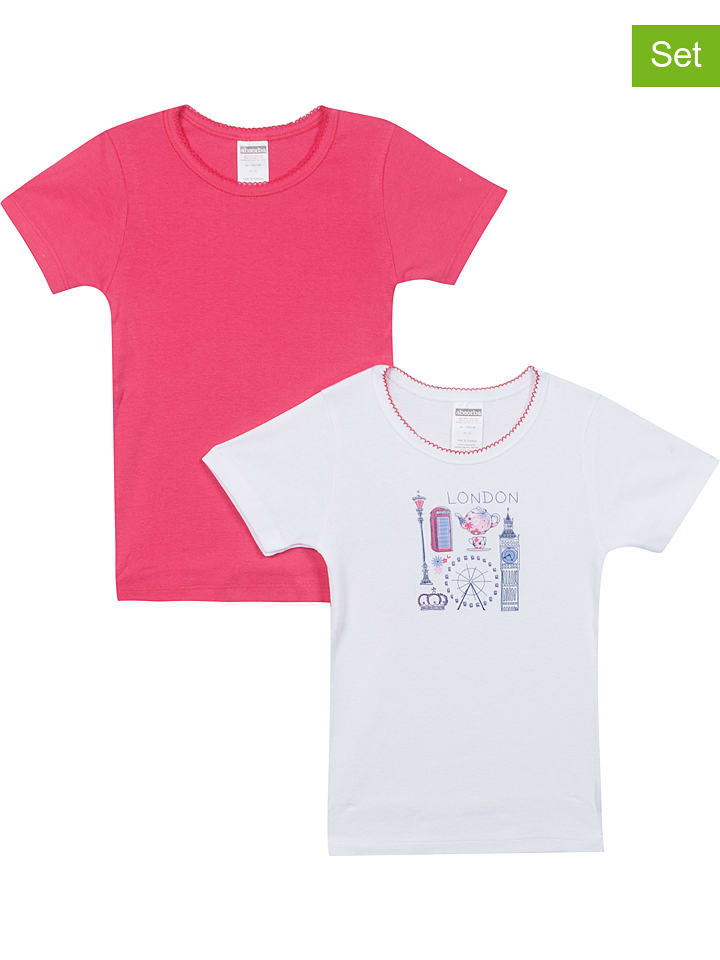 Absorba 2er-Set. Shirts ´´Ope Rentree Des Classes F´´ in Pink - 39% | Größe 116 | Baby shirts