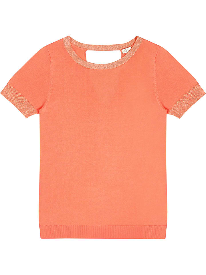 Ateliers de la Maille Pullover Cindy in Koralle - 80%   Größe 38   Damen pullover