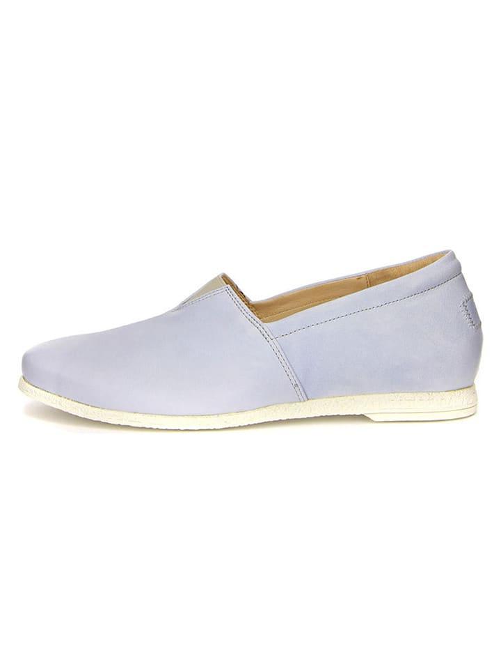 Think! Skórzane slippersy w kolorze błękitnym