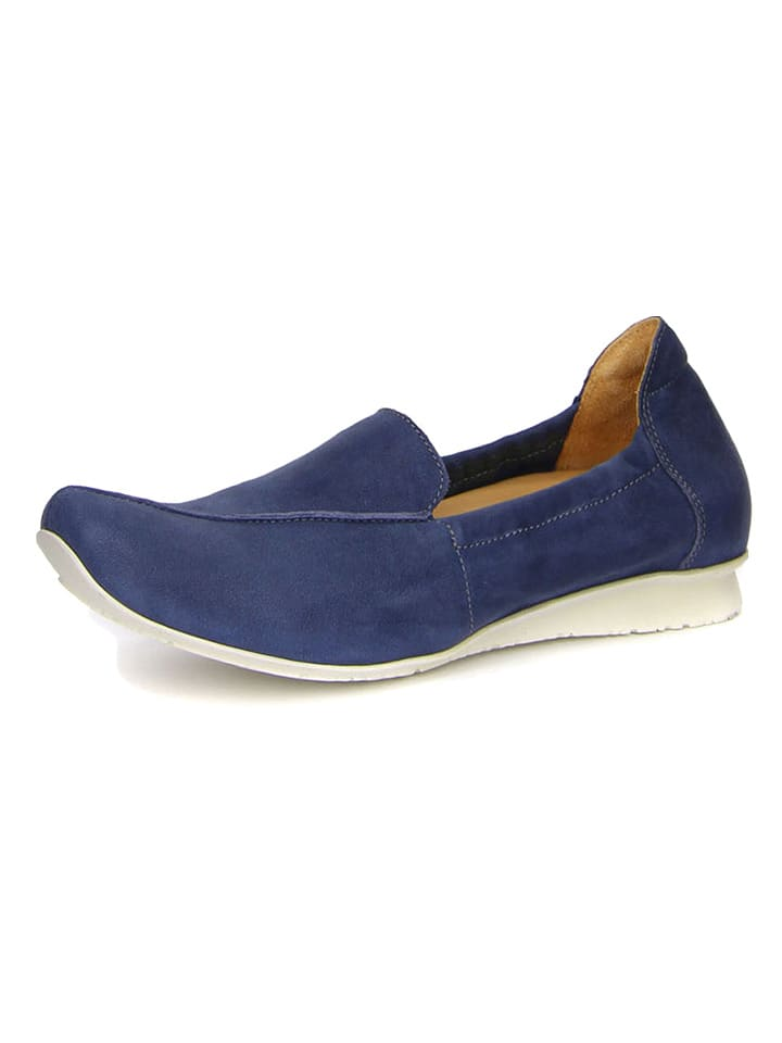 Think! Skórzane slippersy w kolorze niebieskim