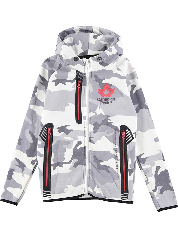 Canadian Peak Sweat zippé - blanc/gris