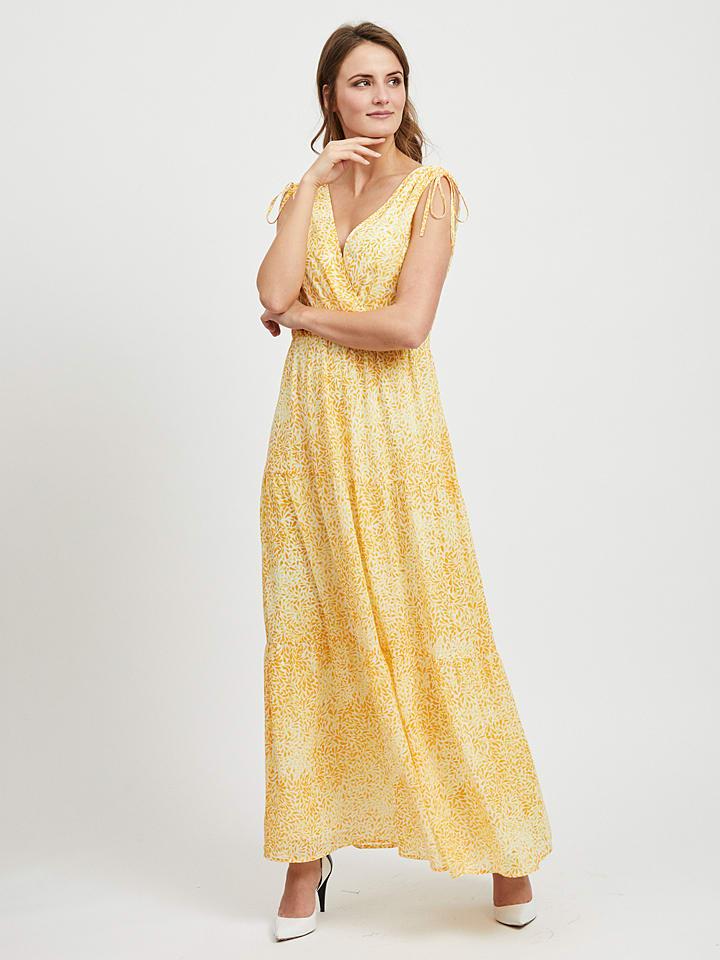 """Vila Sukienka """"Kally"""" w kolorze żółtym"""