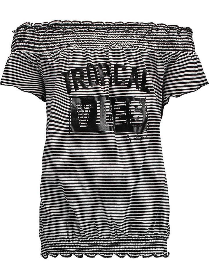 """Vingino Shirt """"Ishe"""" zwart/wit"""