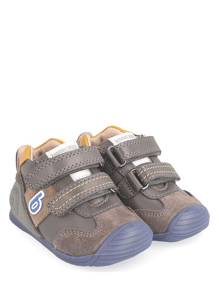 e3150f14 Skórzane sneakersy w kolorze szarym - Biomecanics - Wyprzedaż w ...