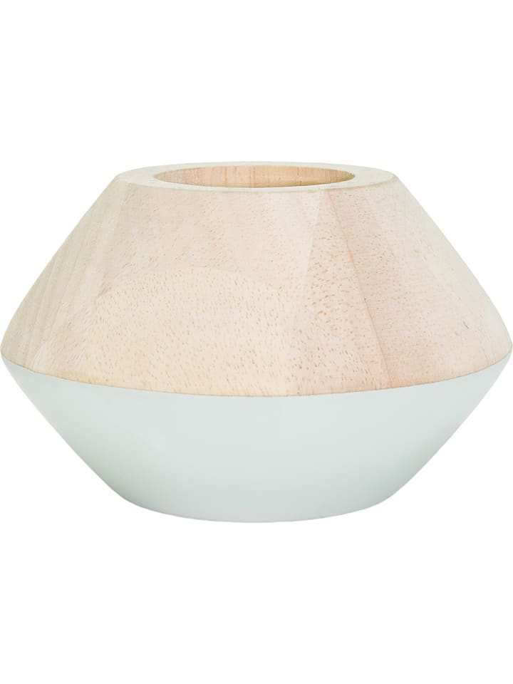 "Tak design Bougeoir ""Maysa Bel"" - naturel/blanc - 12 cm"