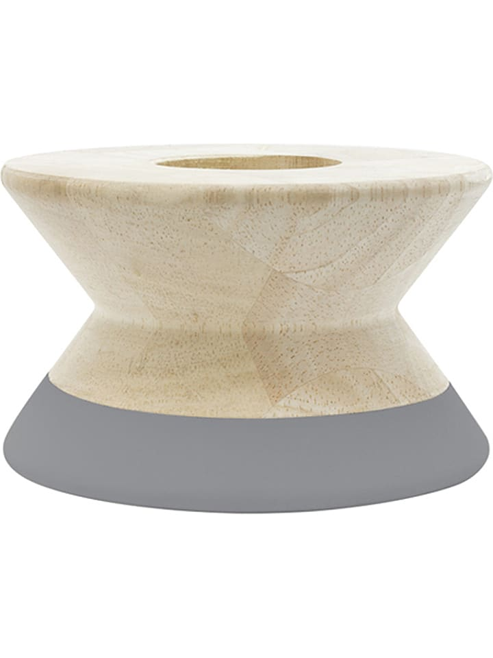 "Tak design Bougeoir ""Maysa Diabolo"" - naturel/gris - 12 cm"