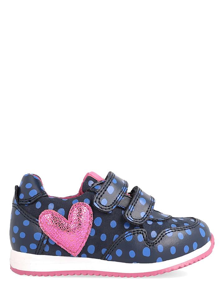 Agatha Ruiz de la Prada Leren sneakers donkerblauw/lichtroze