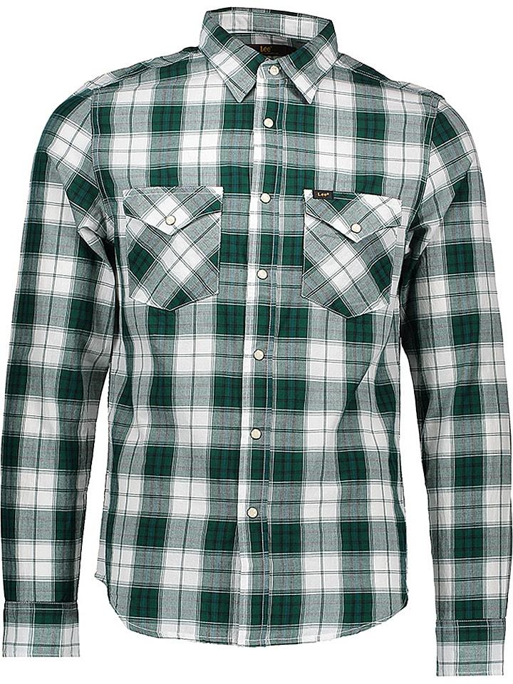 Lee Koszula w kolorze zielono-białym