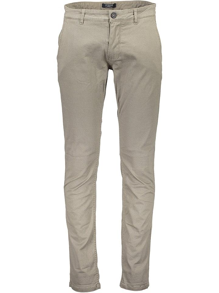 Lindbergh Spodnie chino - Regular fit - w kolorze piaskowym