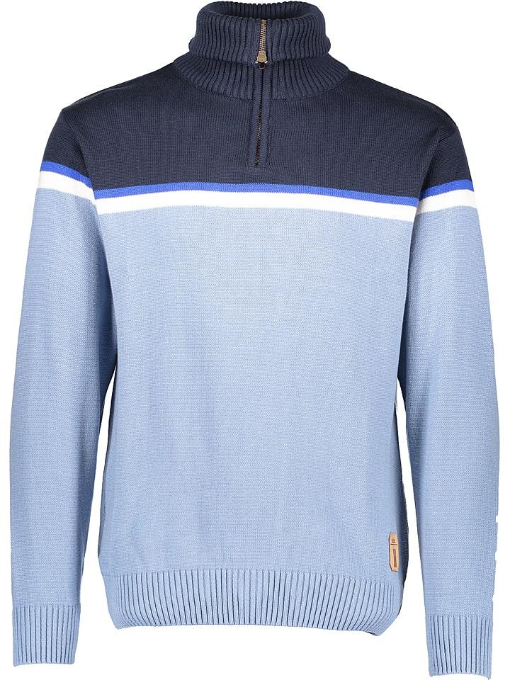 """Derbe Sweter """"Sepp"""" w kolorze błękitno-granatowym"""